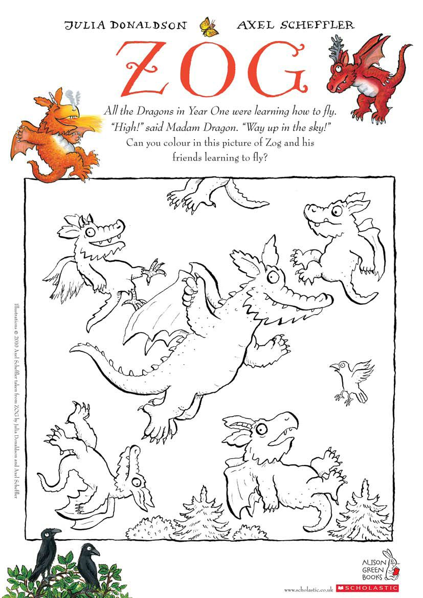 The gruffalo colouring pages to print - English Story