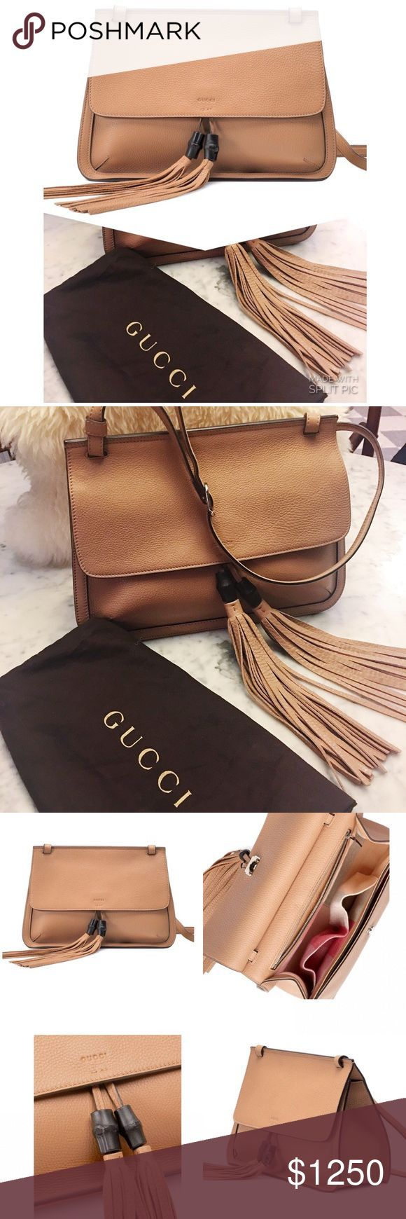 NWT Gucci Bamboo Daily Leather Flap Shoulder Bag Genuine Gucci new with tags and NWT Gucci Bamboo Daily Leather Flap Shoulder Bag Genuine Gucci new with tags and