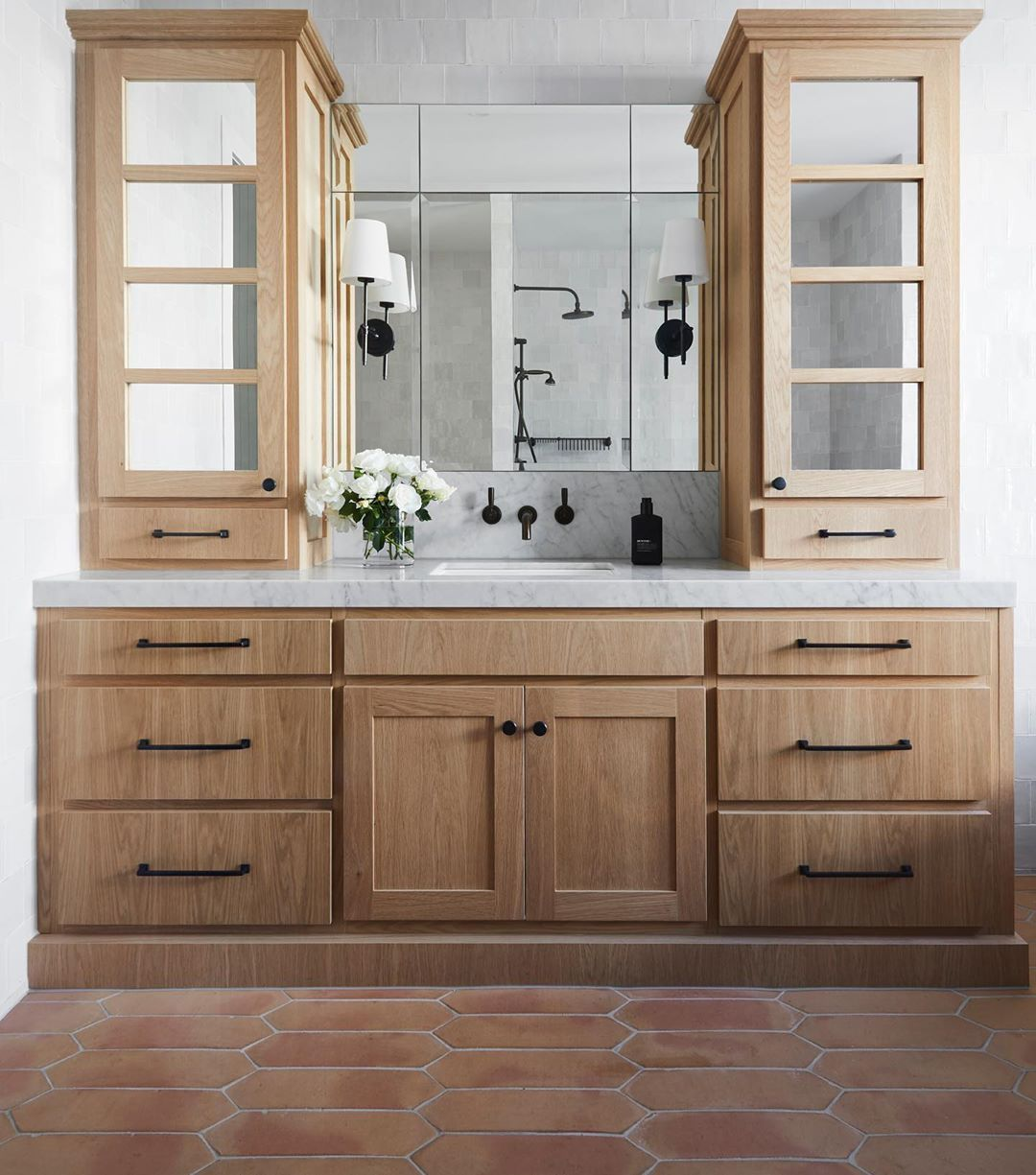 The ensuite joinery at Beechwood. We considered the storage
