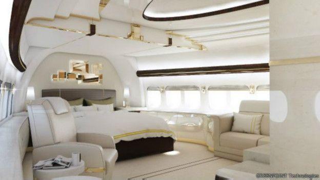 Las imágenes de un Boeing 747 convertido en mansión voladora