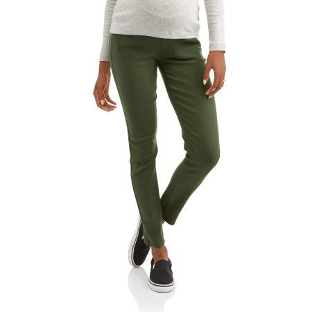 a5b2c657dbd67 Oh! Mamma Maternity Demi Panel Super Stretch 5-Pocket Colored Twill Pants,  Women's, Size: Small, Green