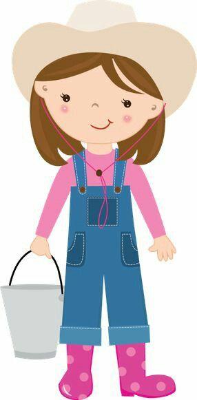 Farmer Girl | Farmer girl, Kids clipart, Clip art