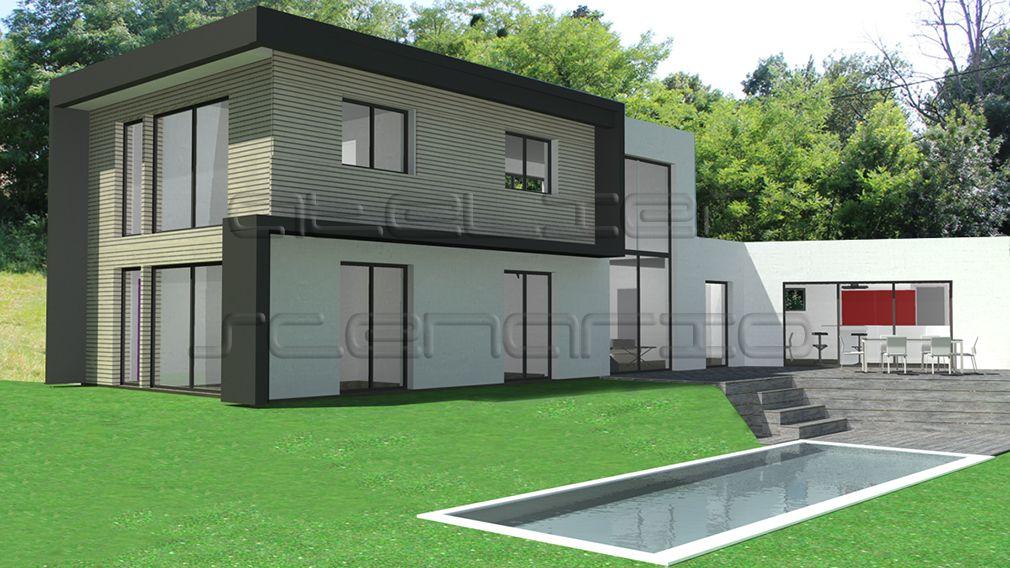 Plan Maison Architecte - Maison contemporaine à étage couverte par