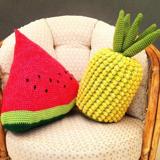 Cojines de frutas a crochet   I Like   Pinterest   Fruta, Patrones ...