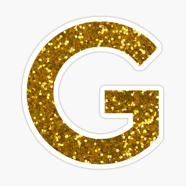 Letter G Gold Stickers Gold Stickers Lettering Monogram Letters