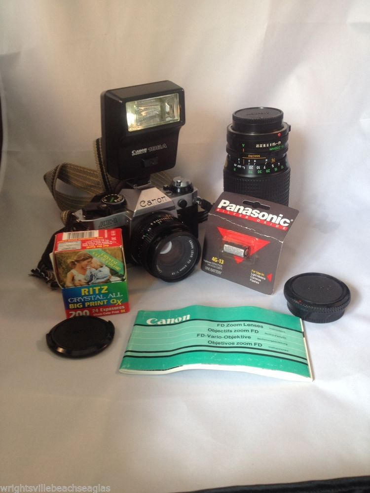 Canon AE-1 Program (Kit w/ 50mm f/1.8SC lens) 35mm SLR Film Camera