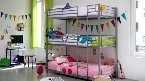 Decoracion y Diseño en Camarotes Triples Habitaciones para niños - diseo de habitaciones para nios
