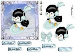 Snowboarding Penguin 6x6 on Craftsuprint - View Now!