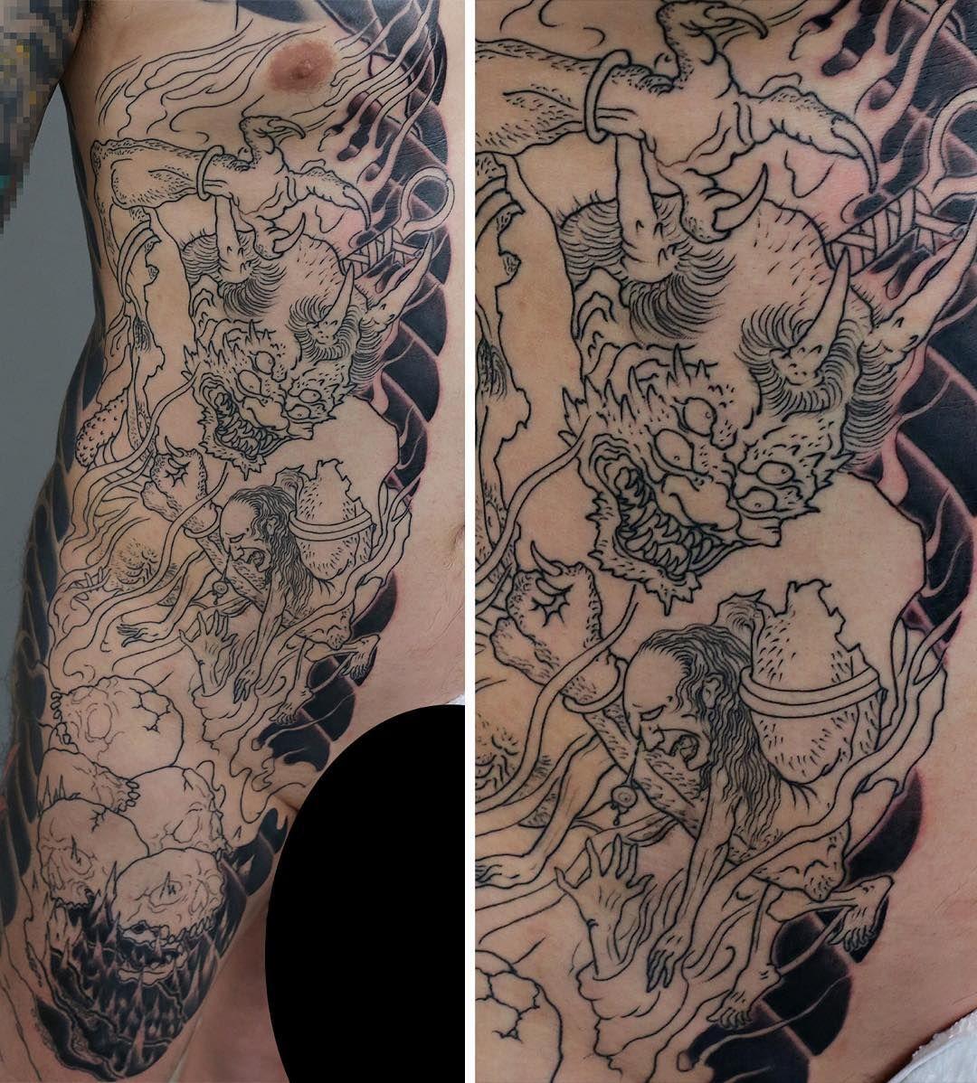 Raijin Tattoo by Damien Rodriguez #Japanesetattoo #