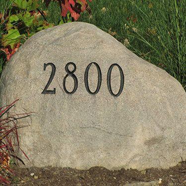 Address Landscape Stones Flows Perfect Into A Pnw