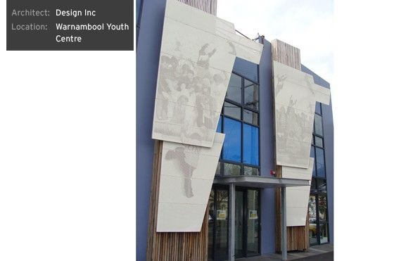 Pic Perf   Perforated Metal Used As Architectural Design Statement.  External Facade At Warnambool Youth