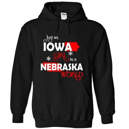 IOWA-NEBRASKA Girl 06Red - #christmas sweater #sweater boots. TRY => https://www.sunfrog.com/States/IOWA-2DNEBRASKA-Girl-06Red-Black-Hoodie.html?68278