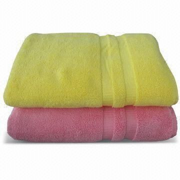 100% Cotton Low Twist Dobby Border Bath Towels with Soft Hand Feeling, Customized Sizes are Welcome