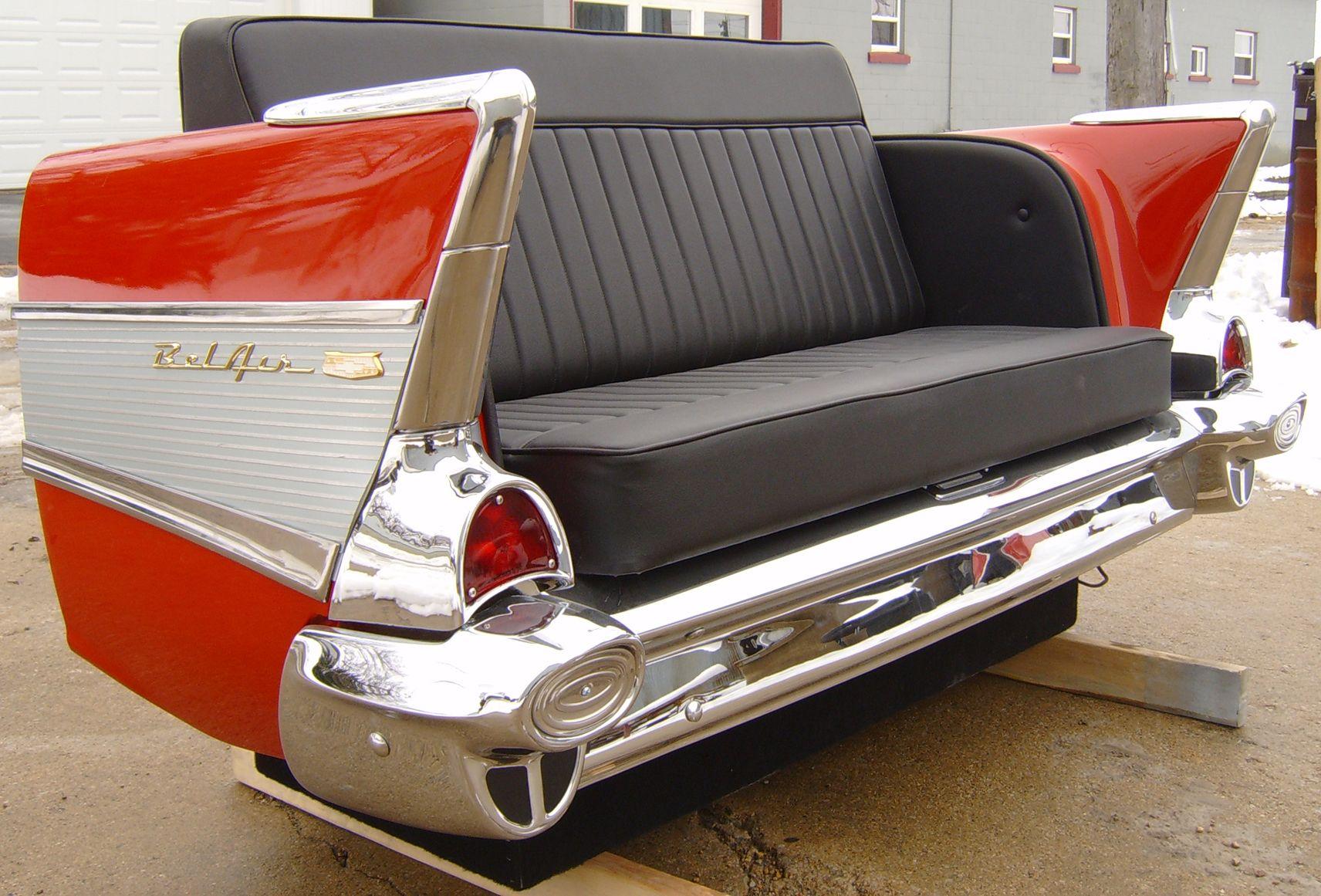 Flash Sale 1957 Chevy Rear End Car Couch | Car furniture ...