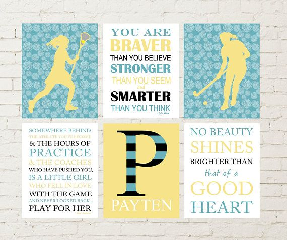 Field hockey, field hockey girl wall art, lacrosse wall art, teen ...