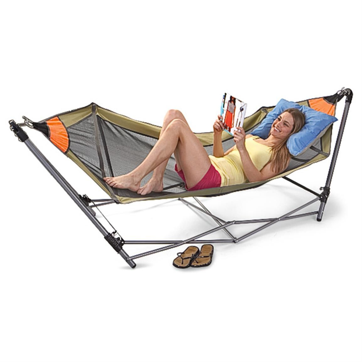 Guide gear portable folding hammock 172580 hammocks at sportsman s - Guide Gear Portable Folding Hammock