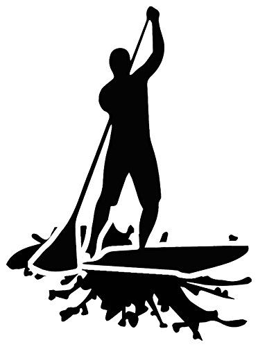 stand up paddle board sup decal sticker black by nalu rh pinterest com Puppy Clip Art Outline Puppy Clip Art Outline