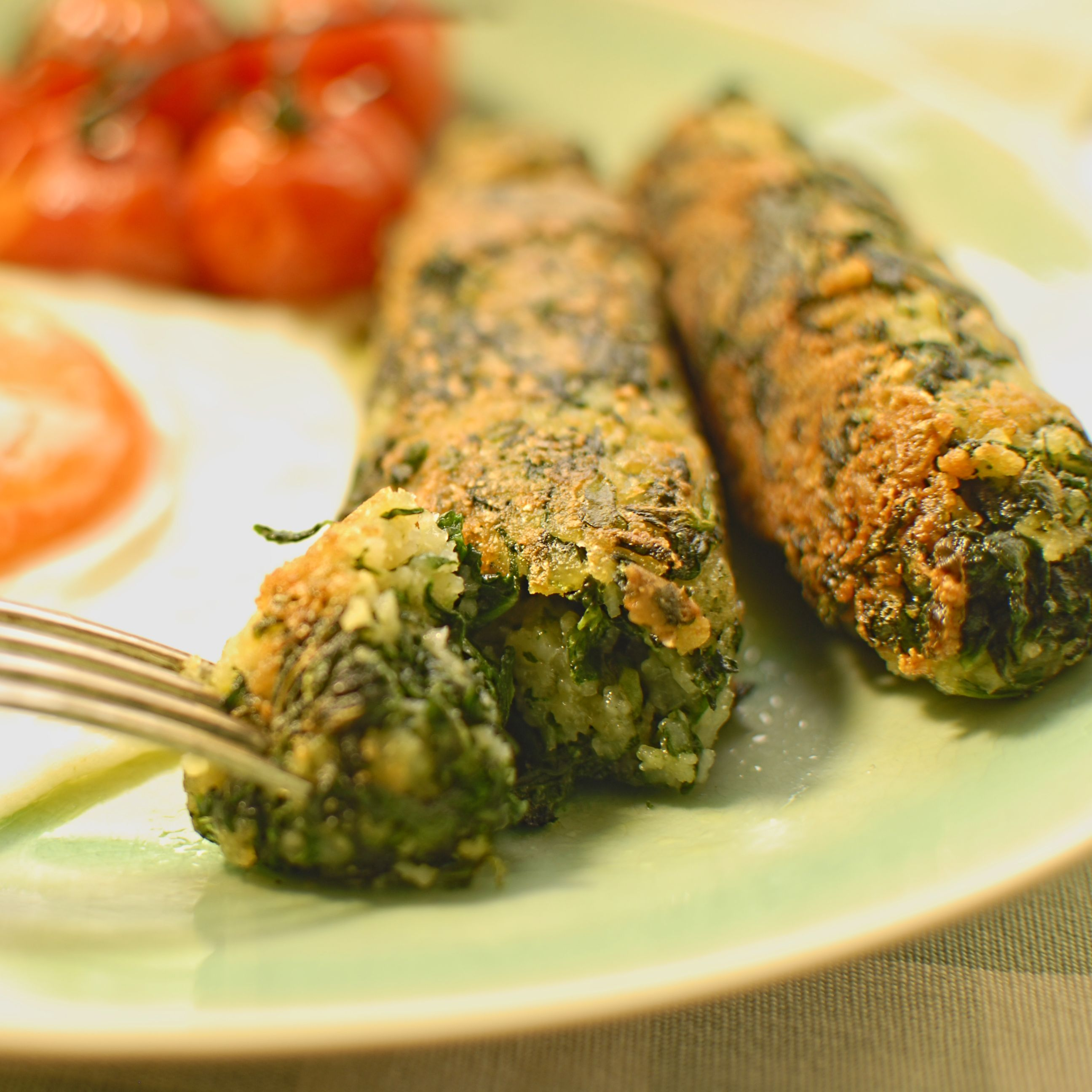 spinach and parmesan sausages > 7/10