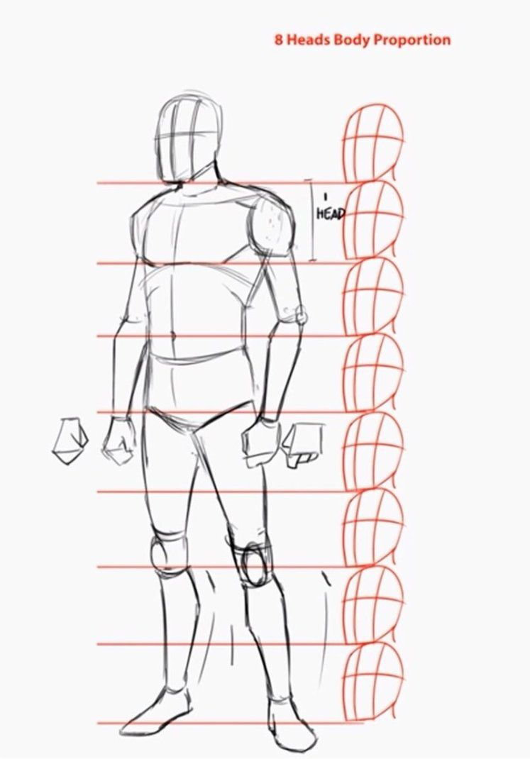 Tutorial How To Draw The Human Body In 3 4 View By Artofjustaman Human Body Drawing Body Drawing Tutorial Drawing Proportions