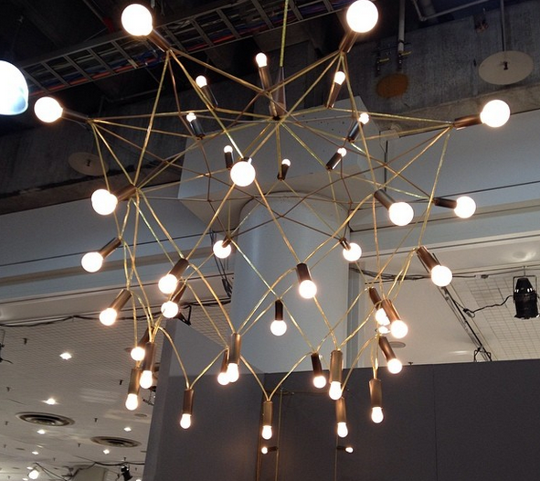 Orbit Chandelier by Patrick Townsend u2014 ICFF 2014 & Orbit Chandelier by Patrick Townsend | Chandeliers Lights and ...