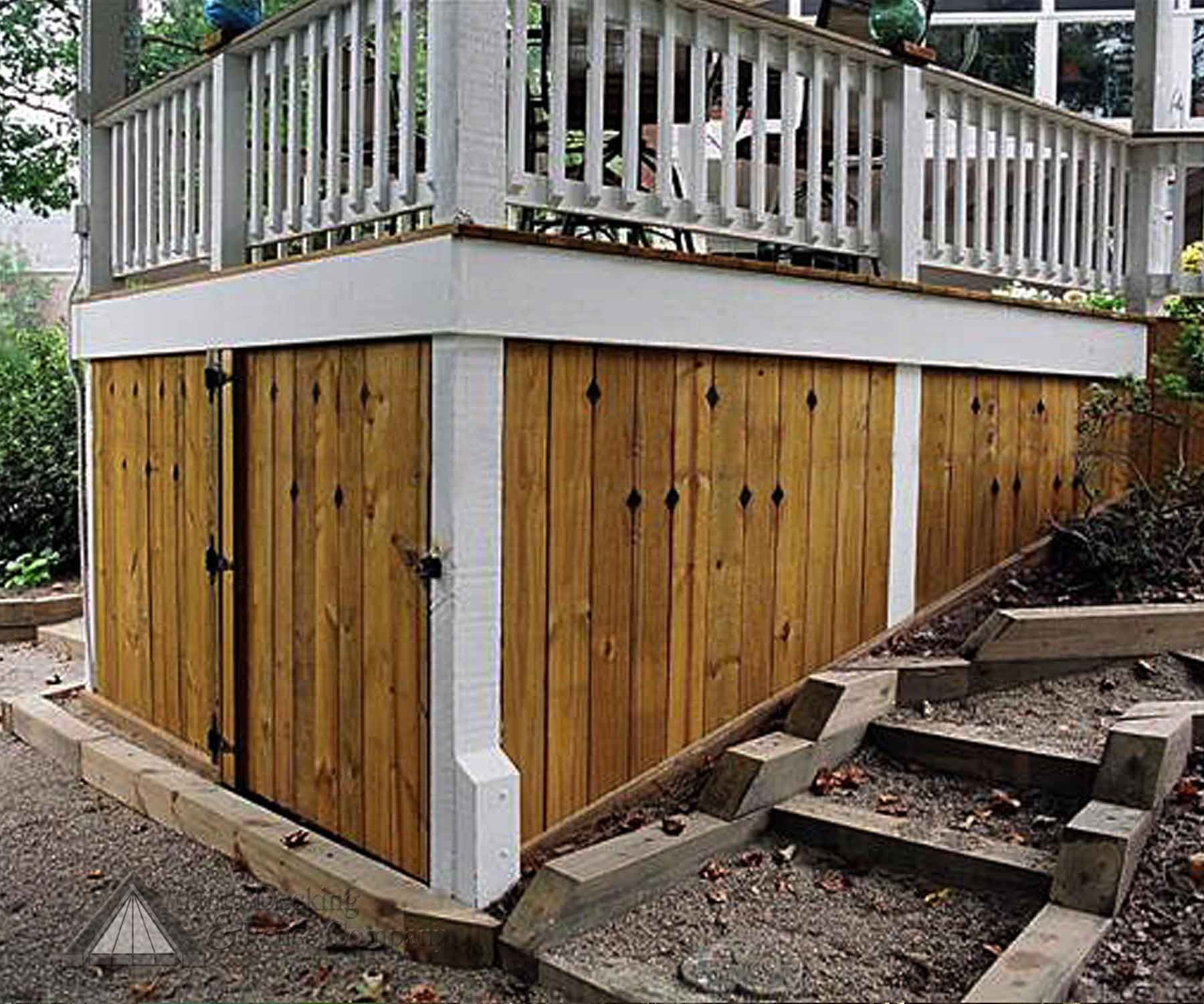 Under deck storage built by atlanta decking fence Deck storage ideas