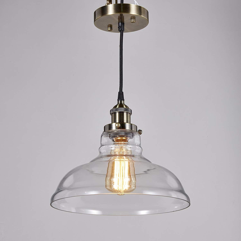 Central Park Industrial Vintage Glass Pendant Lamp Edison Lighting Cottage Style Light Fixture Diam Glass Pendant Lamp Pendant Lamp Industrial Pendant Lamps