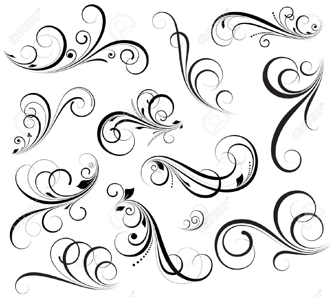 Swirls vectors royalty free cliparts vectors and stock for Swirl tattoo designs