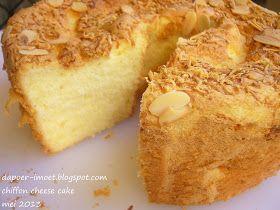 Dapoer Imoet Uji Resep Sedap Chiffon Cheese Cake Resep Kue Resep Makanan Penutup Makanan
