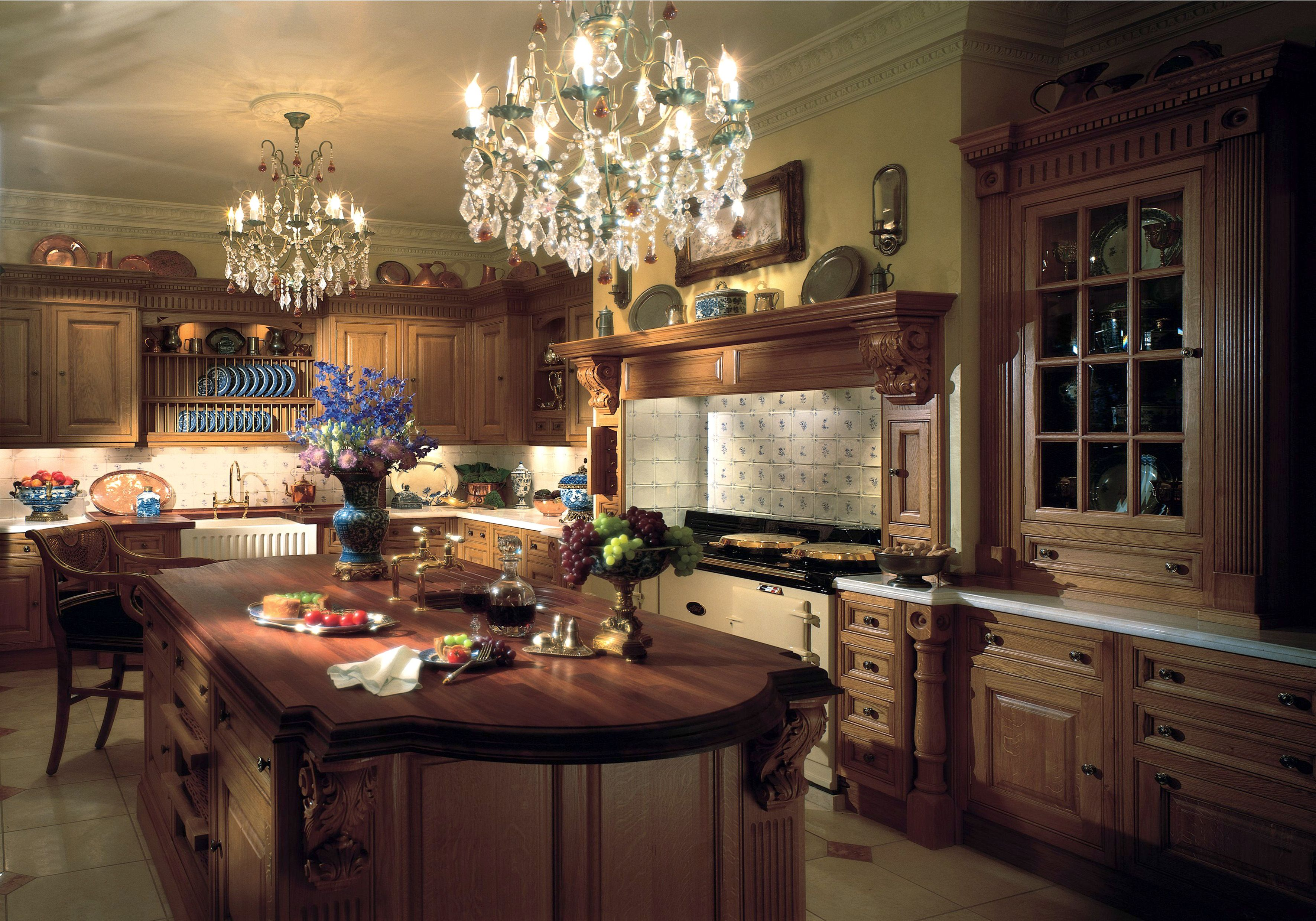 Kitchen Design Victoria Clive Christian Oak Victorian Kitchen W Aga Range Lloyds
