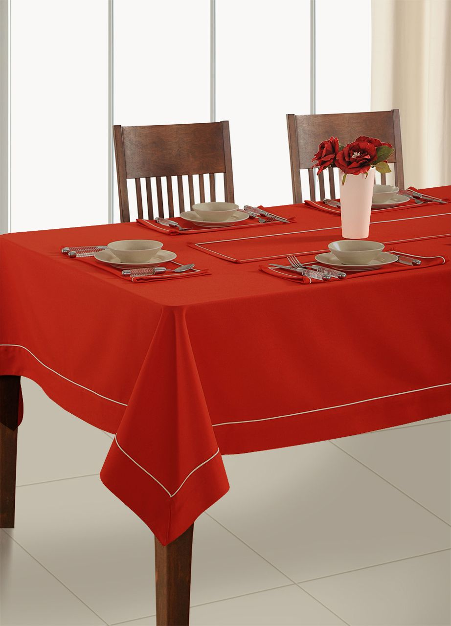In Sattva Home 100 Cotton Solid Color Soft Feel Washable Rectangular Table Cover Cloth Maroon In 2020 Rectangular Table Table Table Covers