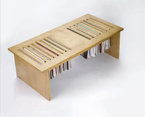 Magtable Also Bookshelf Made From Two Vintage Tables The Style Files