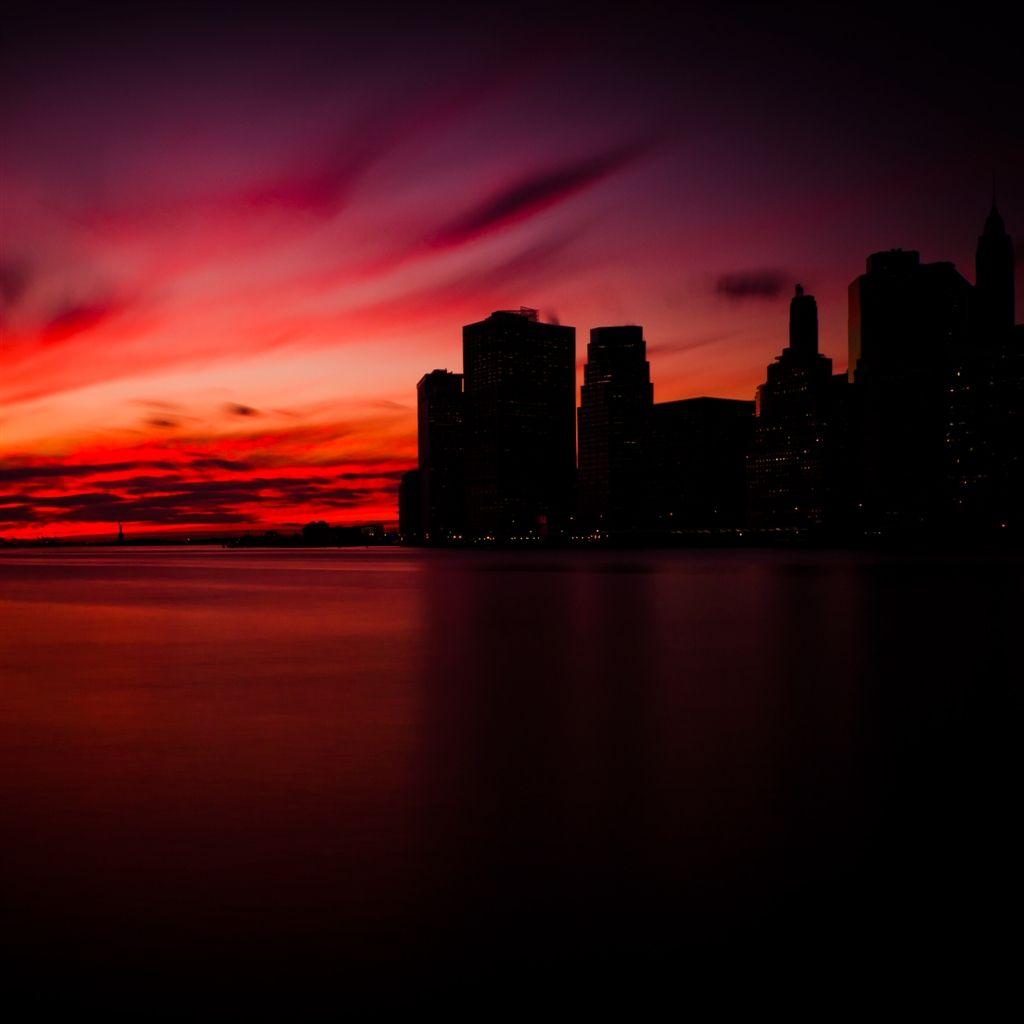 Manhattan Sunset iPad Air Wallpaper