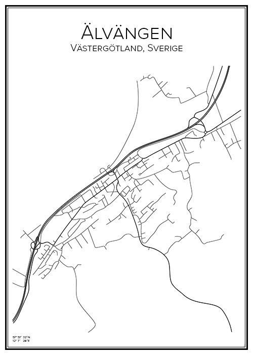 karta över älvängen Stadskarta över Älvängen karta över älvängen