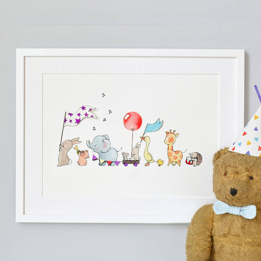Are You Interested In Our Nursery Art Print Of Animals On Parade With Childrens Need Look No Further