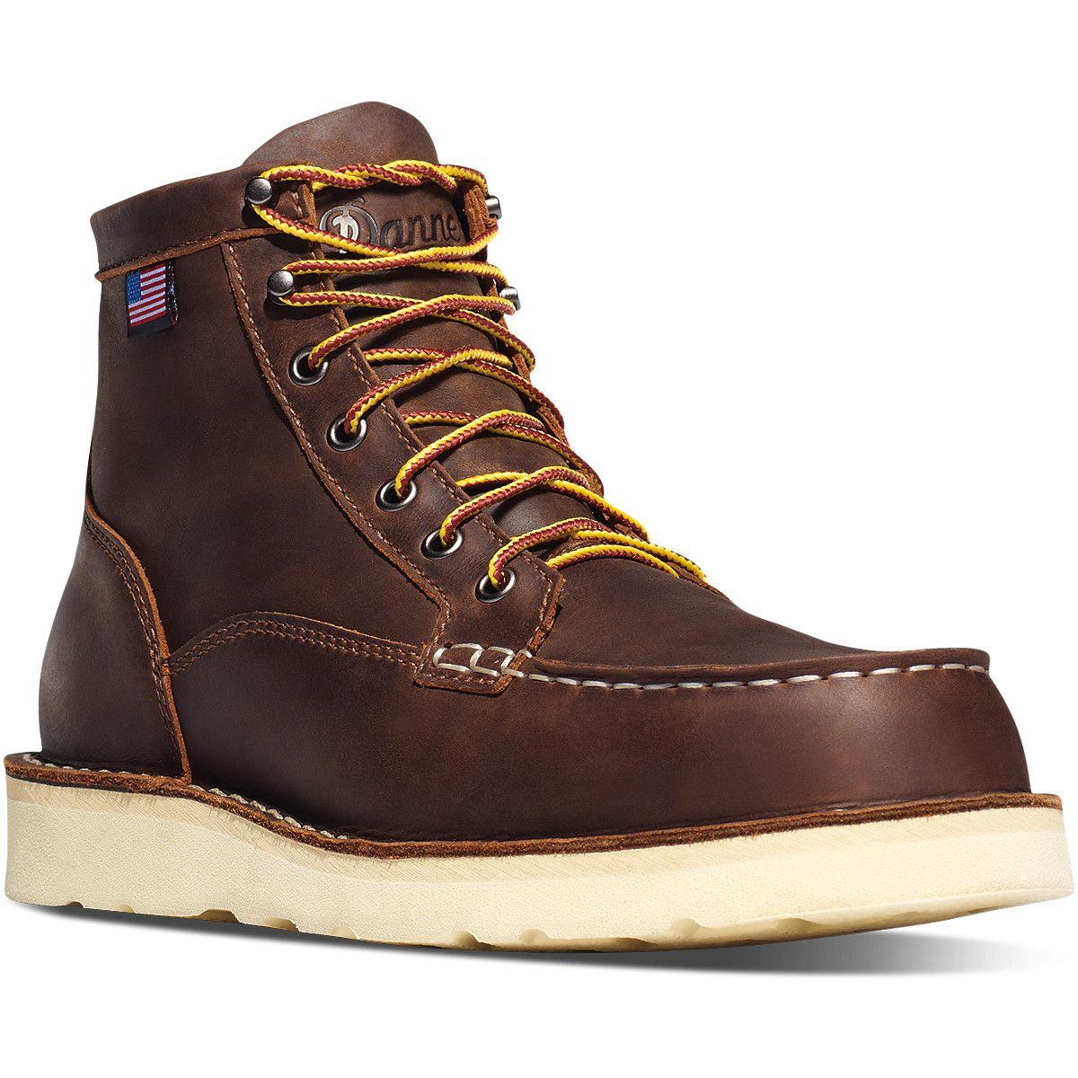 """Danner Bull Run Moc Toe 6"""" Brown Product Brown work"""