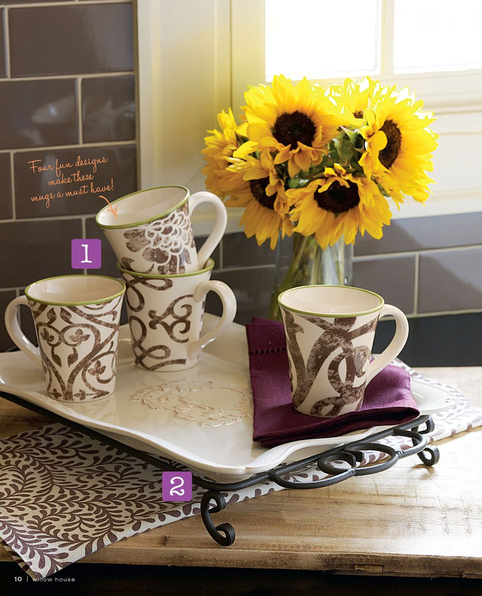 coffee break with Willow House Willow house, Mugs