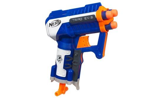 Image is loading 2x-Nerf-Guns-Vigilon-with-8-discs-and-