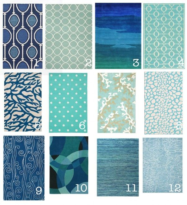 ocean inspired office decor - start with the right rug