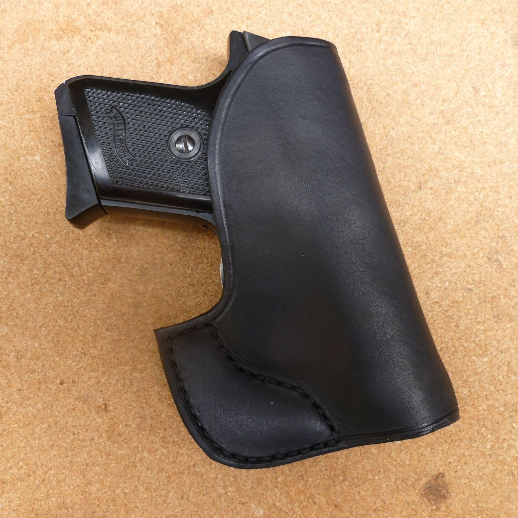 Custom pocket carry holster for Walther TPH automatic pistol