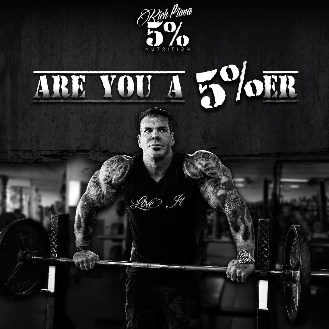Are You A 5 Er Rip Rich Piana Gym Poster Bodybuilding Gym Motivation