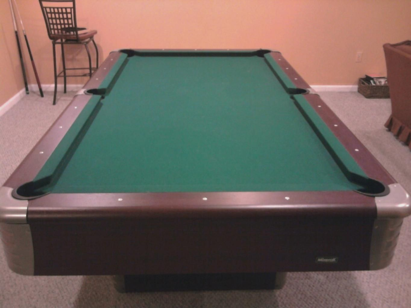 8ft pool table Create a fullsize pool table, if you