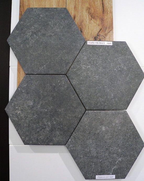 Hexagon Tiles Make A Great Bathroom Floor Tile Or Feature Wall In Your Renovation Hexagonal Conc Bathroom Feature Wall Tile Hexagon Tile Floor Tile Bathroom