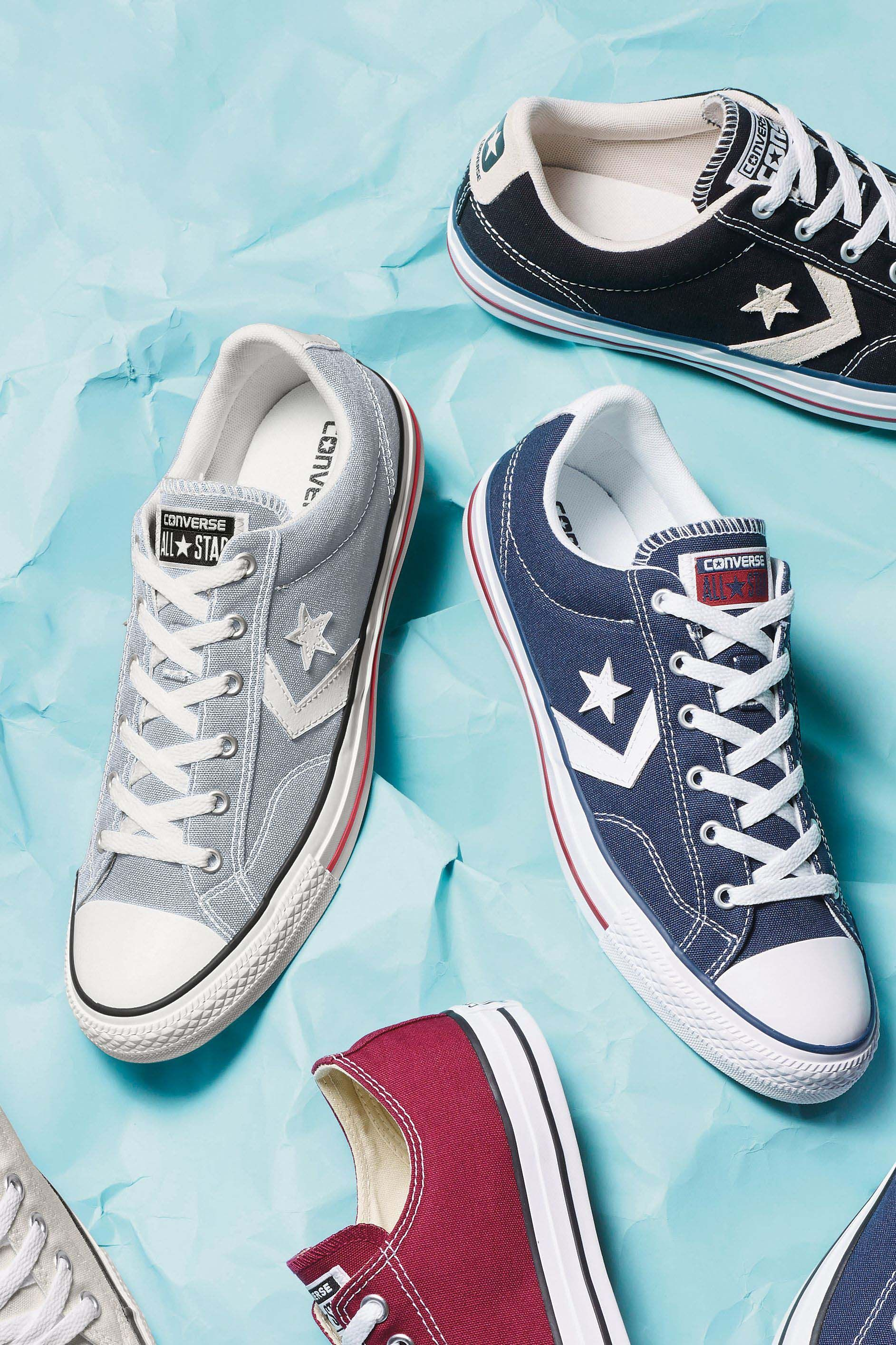 Mens Converse Star Player Ox Trainers Blue | Converse star