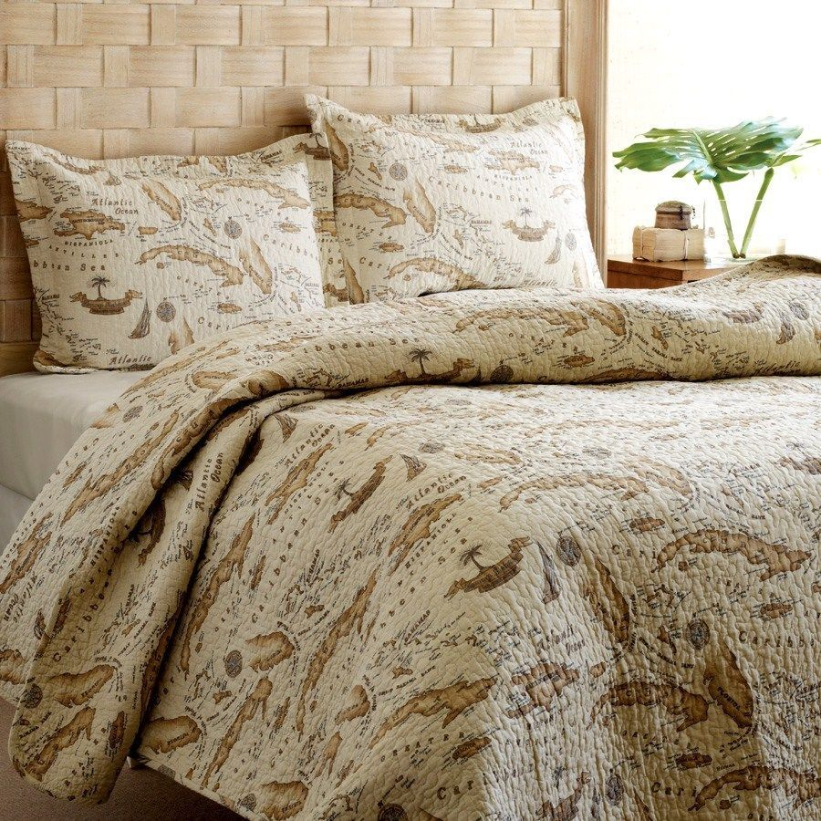 Tommy bahama old world map tan brown sepia full queen quilt 2 tommy bahama old world map tan brown sepia full queen quilt 2 shams 3pc set gumiabroncs Gallery