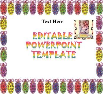 Easter editable powerpoint templates easter template and easter editable powerpoint templates toneelgroepblik Choice Image
