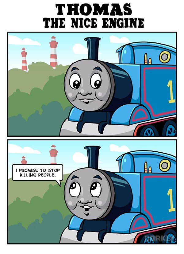 Comic Bravely Imagines A World Where Tv Is Nice Thomas Meme Thomas And His Friends Thomas And Friends