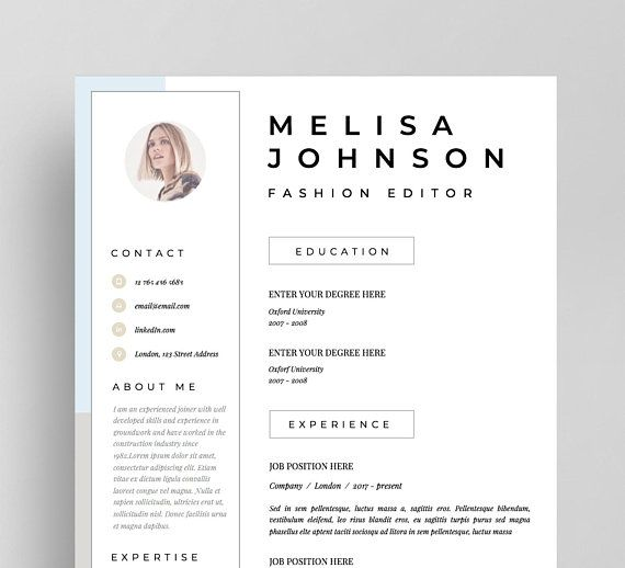 Imagine Having Fully Editable Resume Template Which Presents You