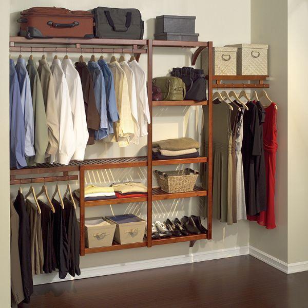 Dark Wood Closet Organizer Racks Closet Shelving System Closet