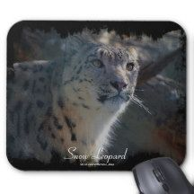 Snow Leopard Wild Cat Animal Lover Mousepad