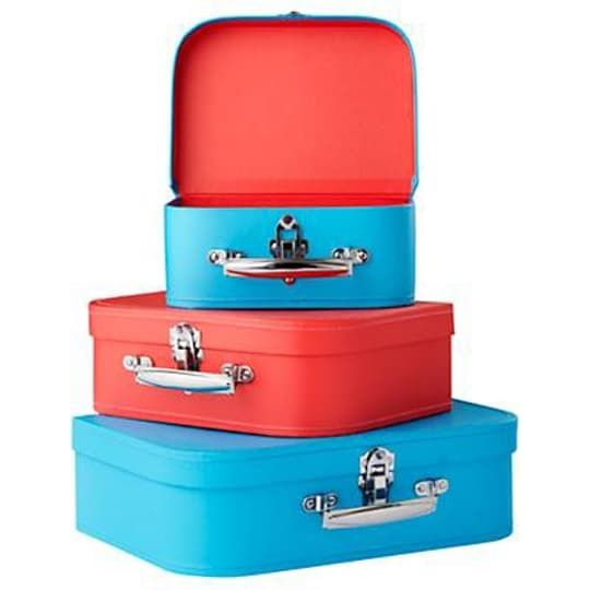 Bon Voyage Suitcase Set (Blue/Red) by The Land of Nod   Spring ...